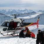 heli skiing in the alps on our ski vacations
