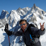 Dan the Ski Man, Pres. of Morningstar, hanging out with Mt. Blanc in Italy.
