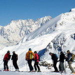 group on ski vaation in mt. blanc region