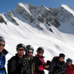 ski tour between courmayeur, italy and la thuile , italy