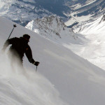 ripping up the powder in the austrian alps on a ski package