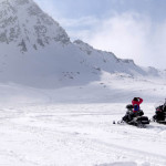 a snowmobile tour on our madesimo ski package