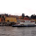 ride a lake como ferry on our post ski tour ski week to the italian alps.