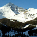 lone peak in big sky on our ski vacation package