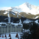 big sky village is the site of our huntley lodge for our ski tour package to big sky