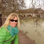 tiber river walk in rome italy