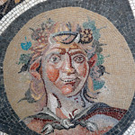 mosaic in a rome museum on our rome tour