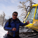 Skiman in his element... What was there NOT to smile about last year on our Idaho snow cat tour!
