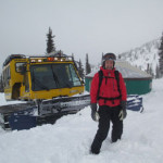 lots of snow on our Idaho snow cat ski tour