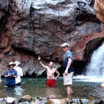 One of the many waterfall-fed swimming holes we visited on our previous Grand Canyon journey.