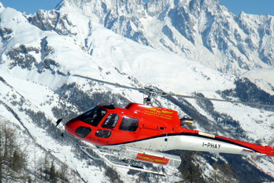 heli skiing in italy