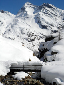 Monte Rosa can get pounded with a LOT of snow, and it offers great ski terrain.