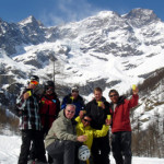 A toast to the great skiing on Monte Rosa