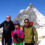 Paolo, our Italian good fiiend, joins Deb and Skiman at the Matterhorn.