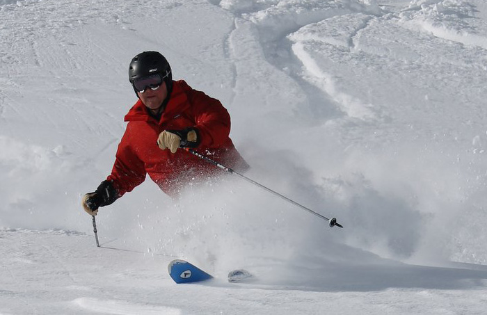 Jeff F. livin' the dream in powder as lite as a feather 3 years ago on our Monte Rosa tour. You have to ski this region to believe it!