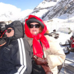 Thurston Howell and Lovie (aka Loren and Darla) enjoying a crazy fun snow mobile tour in Italy last year.