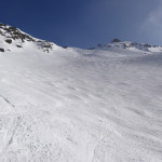 Huge uncrowded slopes are pretty much the norm in the Alps.