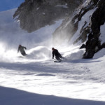 One of the coolest chutes Skiman has ever seen, in Madessimo last year. These Morningstar skiers had NO complaints about the powder!