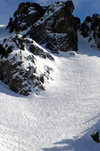 Guess which American group laid down these tracks?  The expert skiing is great here. The intermediate skiing is great hear.  It is just great here!