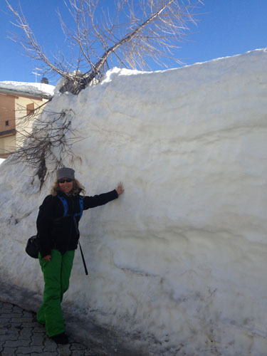 Deb proves it... Madesimo gets a lot of snow!