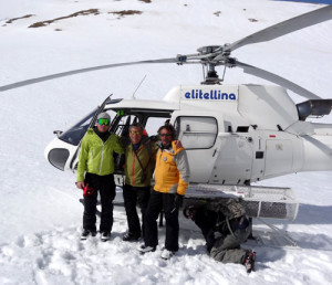 Skiman and our two heli guides.