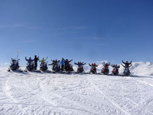 Snowmobile day crew... what a blast!