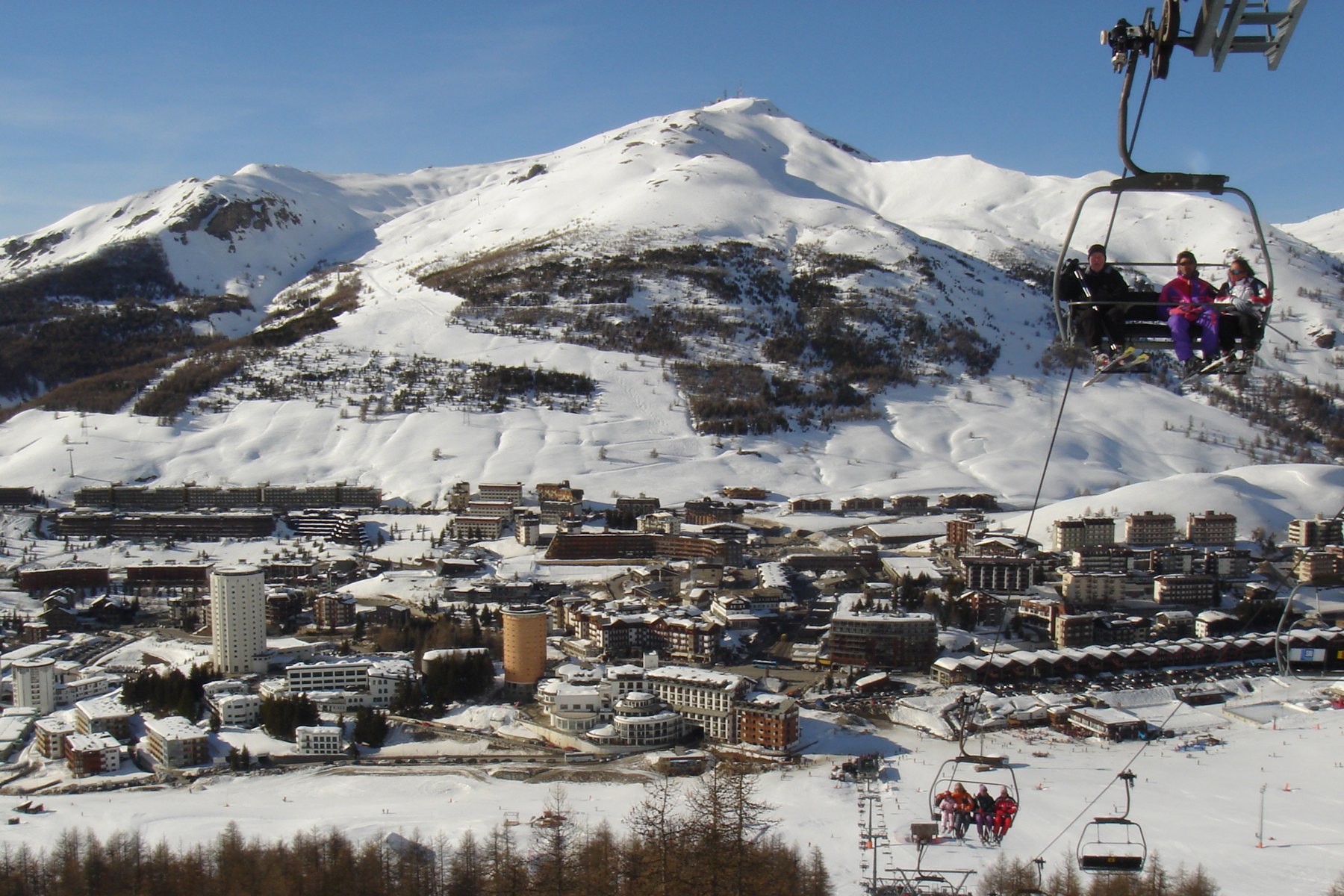 The village of Sestriere, Italy.