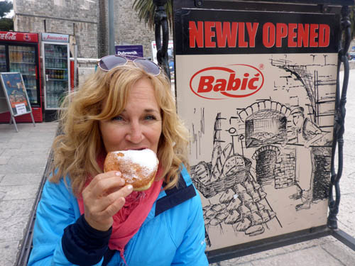 Dieting went bye-bye in Croatia. Deb samples a local pastry that was crazy good. But she was assured all the calories had been removed.