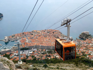 This tram takes you up to the fortress buiilt by Napoleon. Short cheap ride to paradise-like views.