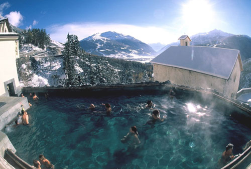 The natural thermal baths near Bormio are world famous and a must soak.