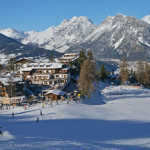 bormio slopes and village