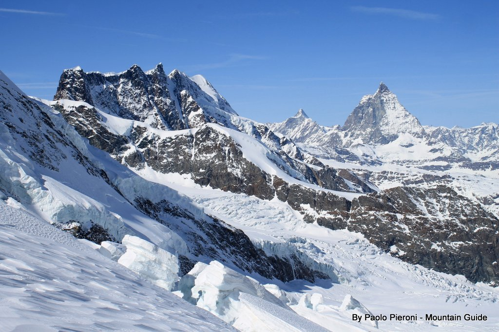 Matterhorn at the base of our Grantz Glacier day. It is one of the top ski routes in the world.