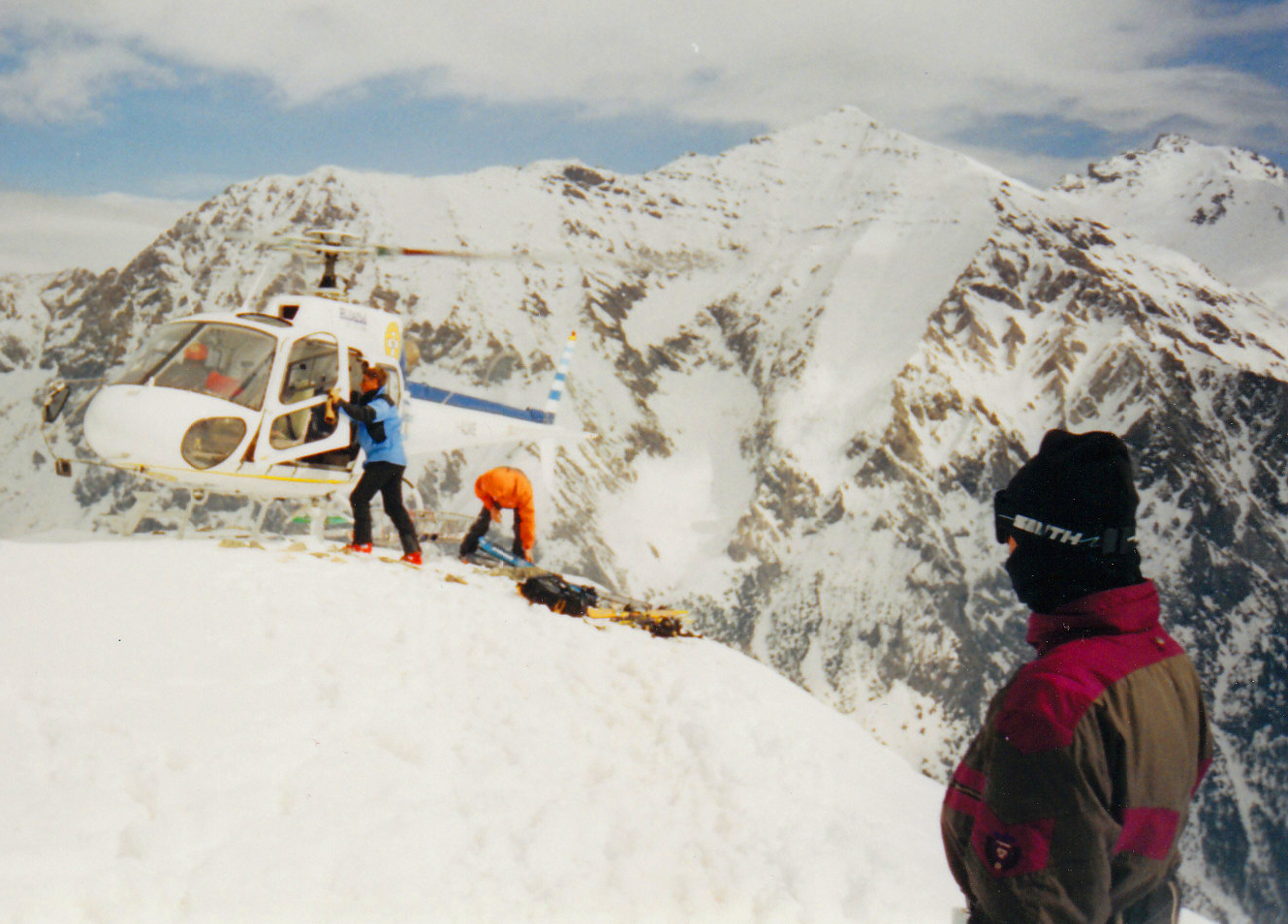 Heli is a possibility in Sestriere for the experts.