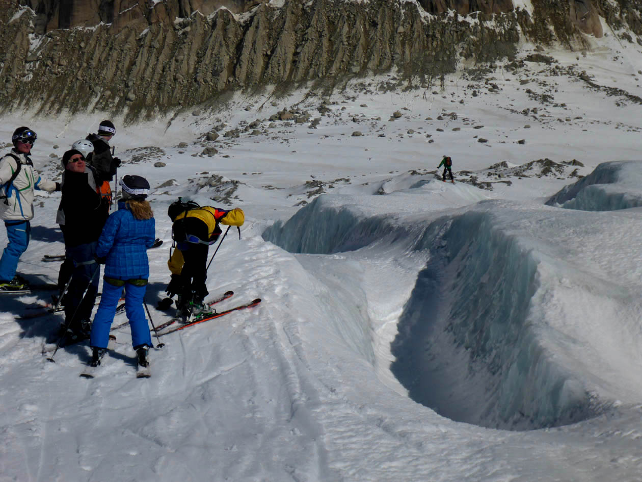 Why you need a guide on glaciers. You do NOT want to fall into a crevasse!