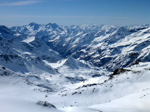 View from the top of Alagna, a back-country paradise... part of the Monte Rosa complex.