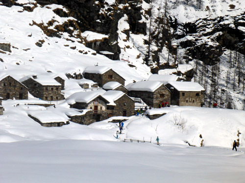 Beautiful very old village on back side of Alagna. We skied to it on a backcountry day.
