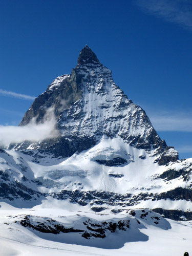 We skied to this, the most famous mountain in Europe... the Matterhorn.
