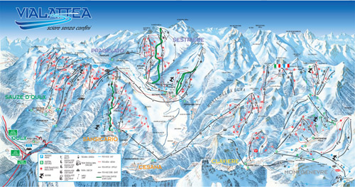 The Milky Way is a massive ski region comprised of 5 Italian and 1 French resorts.