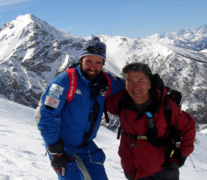 Andrea Mazon and Skiman a few years ago. He is our head guide and is a great guide and fun persosn.