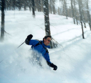 The tree skiing in Sestriere is some of the biggest anywhere. Skiman enjoys on our first trip here over a decade ago.