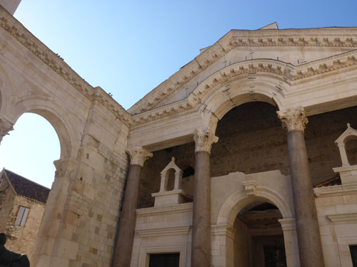 Roman Jupiter temple in Split center.