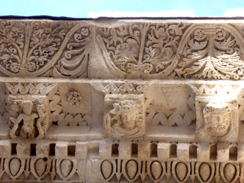 Reliefs on the Roman temple to Jupiter. Again, not restored. This is original!