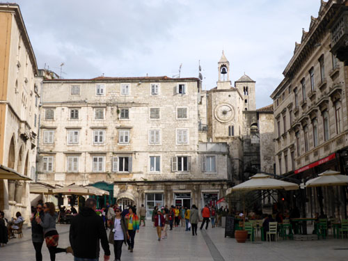 Split's largest square. Going to Split allows you to see 1800 years of building history... all in the same place!