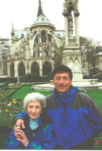 Dan the Ski Man with his Mom, Teresina, on a visit to Paris after a ski trip.