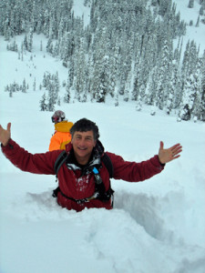 Dan the Skiman buried in Revelstoke pow a while back. This place is a powder stash!