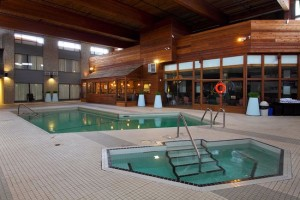 Sandman hotel is a recently remodeled property with an outstanding indoor pool and spa area.