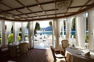 Our Lake Bled hotel affords some nice lakefront views. All of our rooms will be lake view.