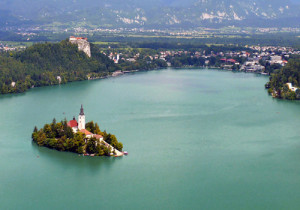 Fairytale scene? Nope: Lake Bled, where our 5 star hotel resides, right on the shore.