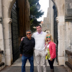Together with Andre, our guide extraordinaire, at Dubrovnik gate.