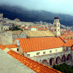 View of Dubrovnik from the wall walk.
